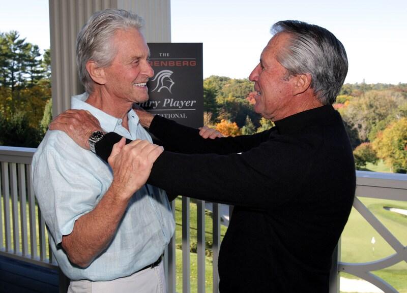 Michael Douglas and Gary Player