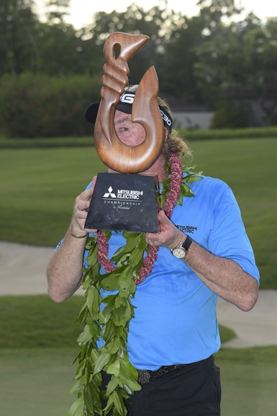Miguel's year began with a Champions Tour win in Hawaii