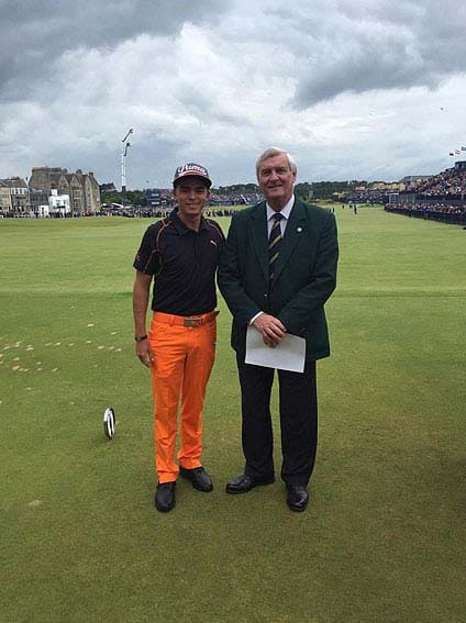 Rickie Fowler and Ivor Robson