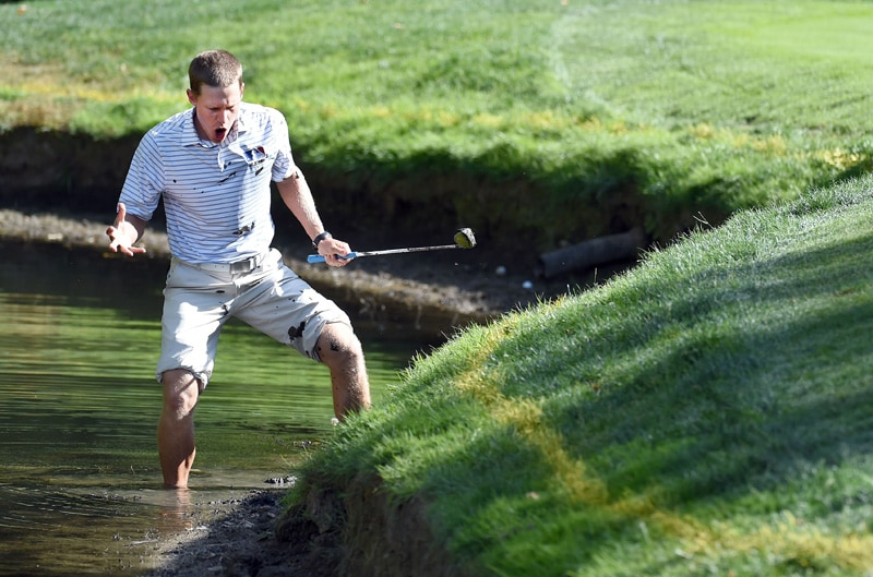 7. Peter Malnati gets stuck in the mud