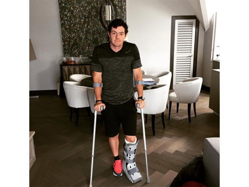 7. Rory's ankle injury