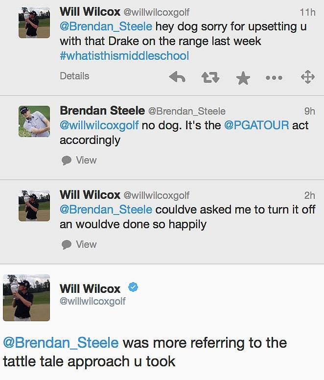 Breandan Steele and Will Wilcox arguing over playing Drake music on the range ... or