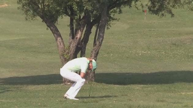 Golfer whose shot ricocheted into own family jewels