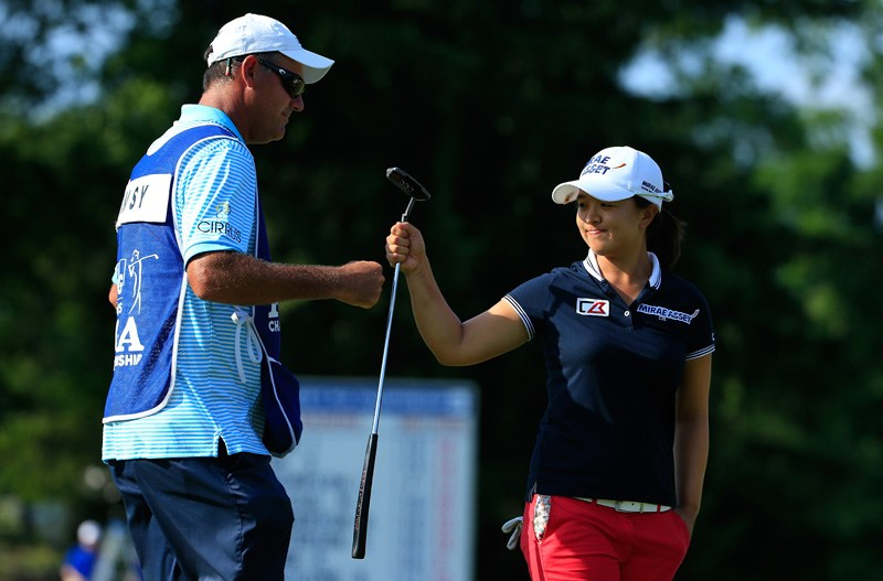 6. LPGA caddie busted for snapping pin photos