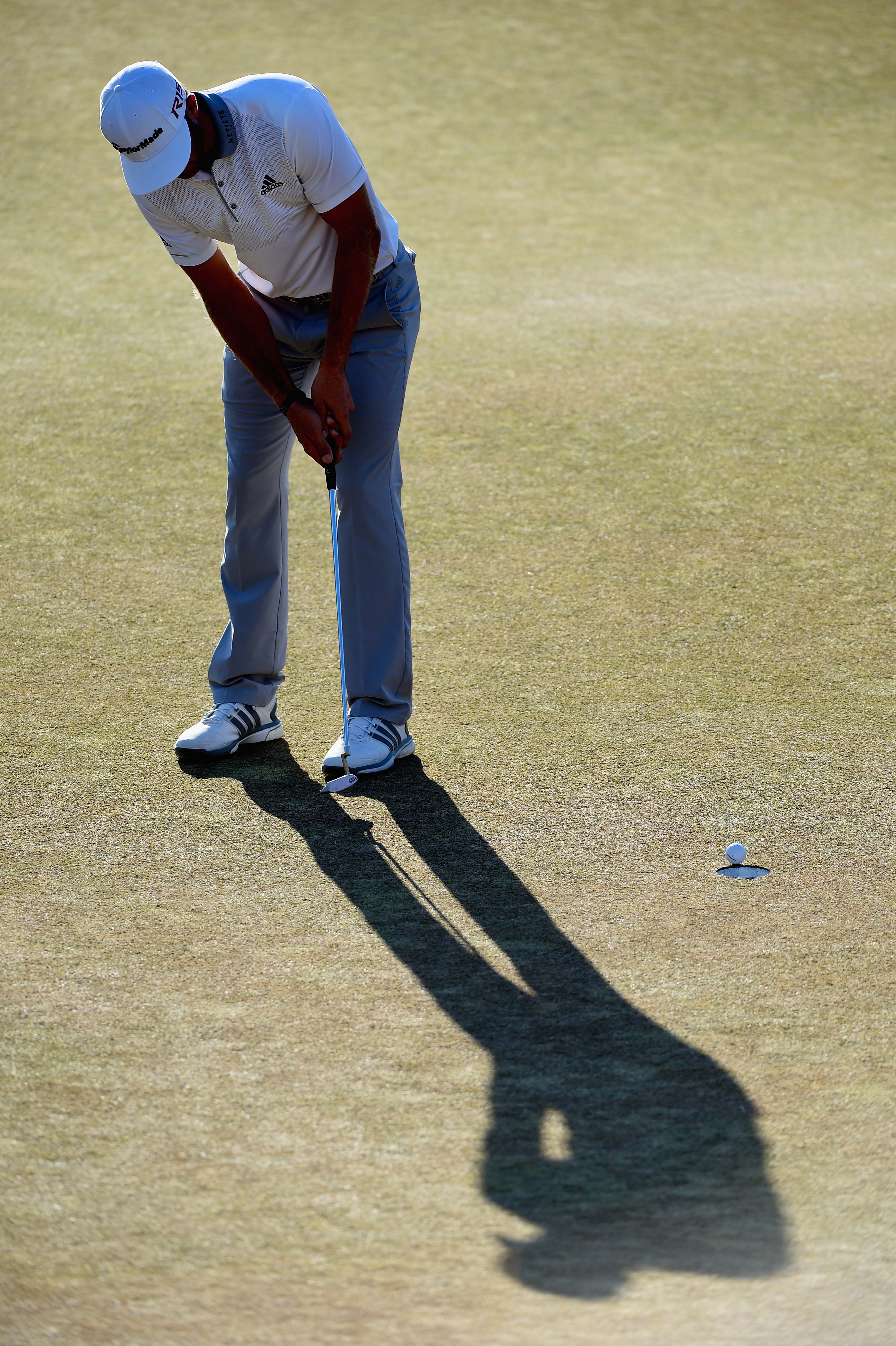 Dustin Johnson losing the U.S. Open on the 72nd hole ... or