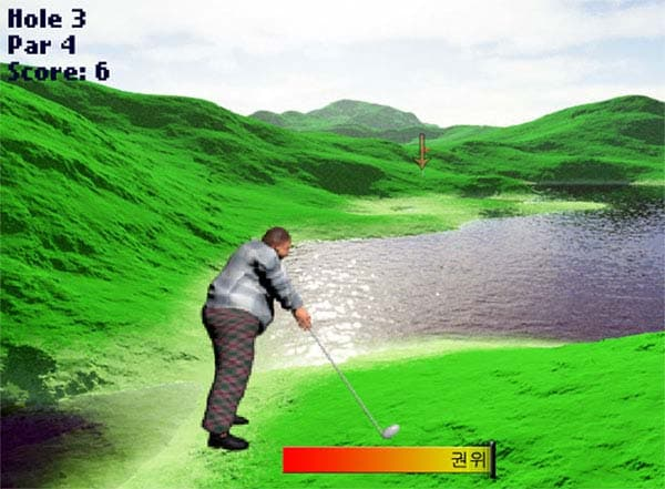 Kim Jung Un's video game where you make a hole-in-one on every shot