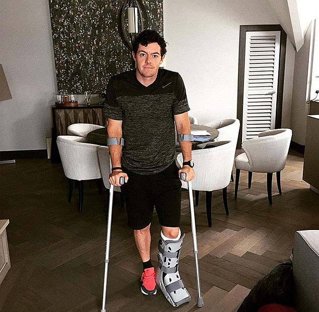 2. McIlroy injures ankle playing soccer