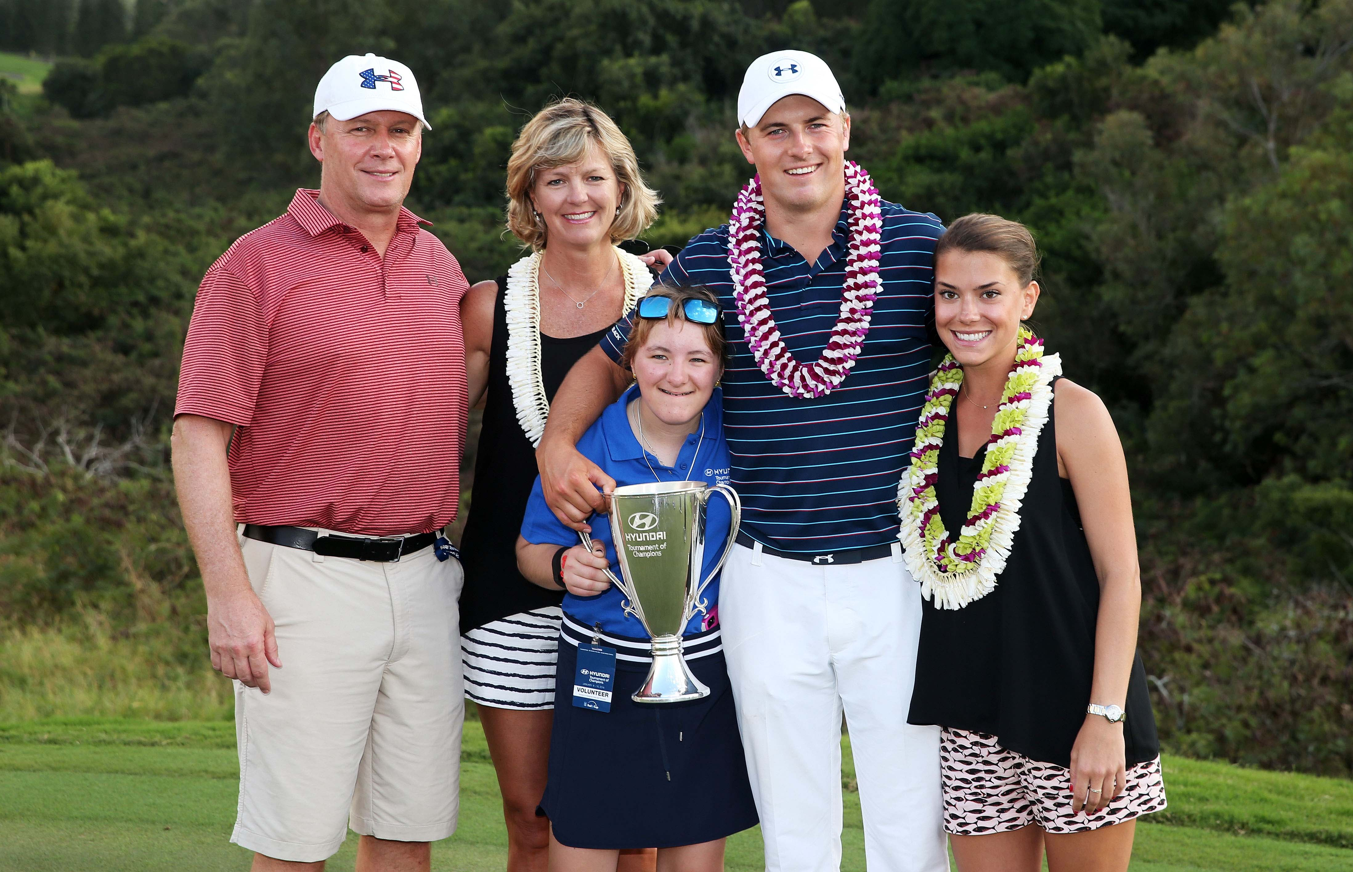 Jordan Spieth and his family