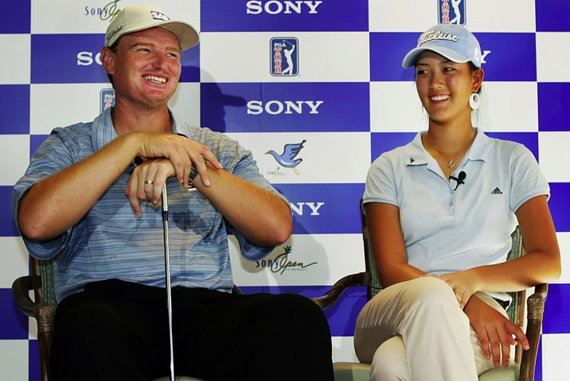 Ernie Els and Michelle Wie