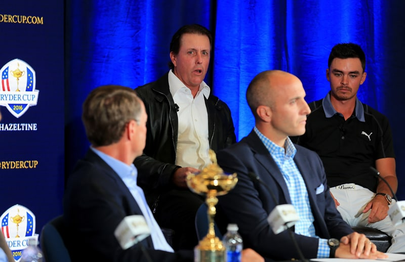 Phil Mickelson as part of Ryder Cup task force