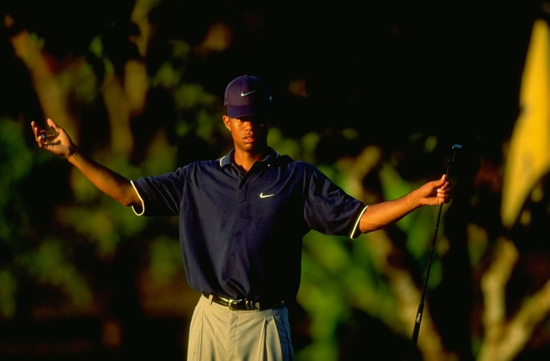 Tiger Woods at the 1998 Johnnie Walker Classic