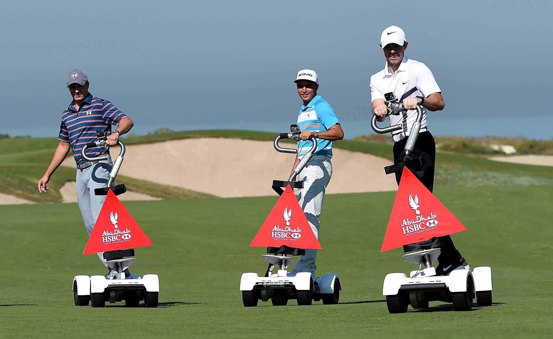 Jordan Spieth, Rickie Fowler and Rory McIlroy