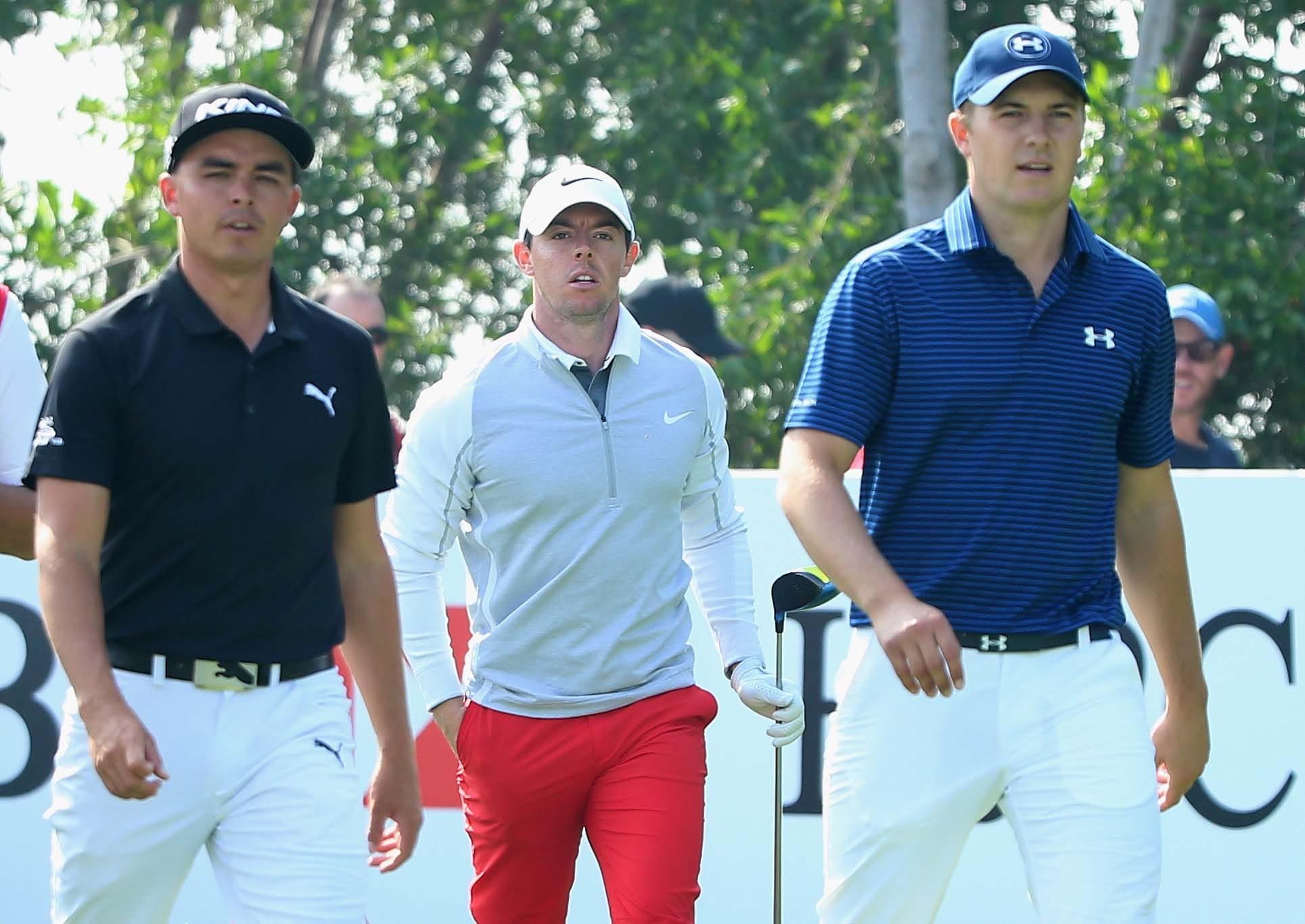Rickie Fowler, Rory McIlroy and Jordan Spieth