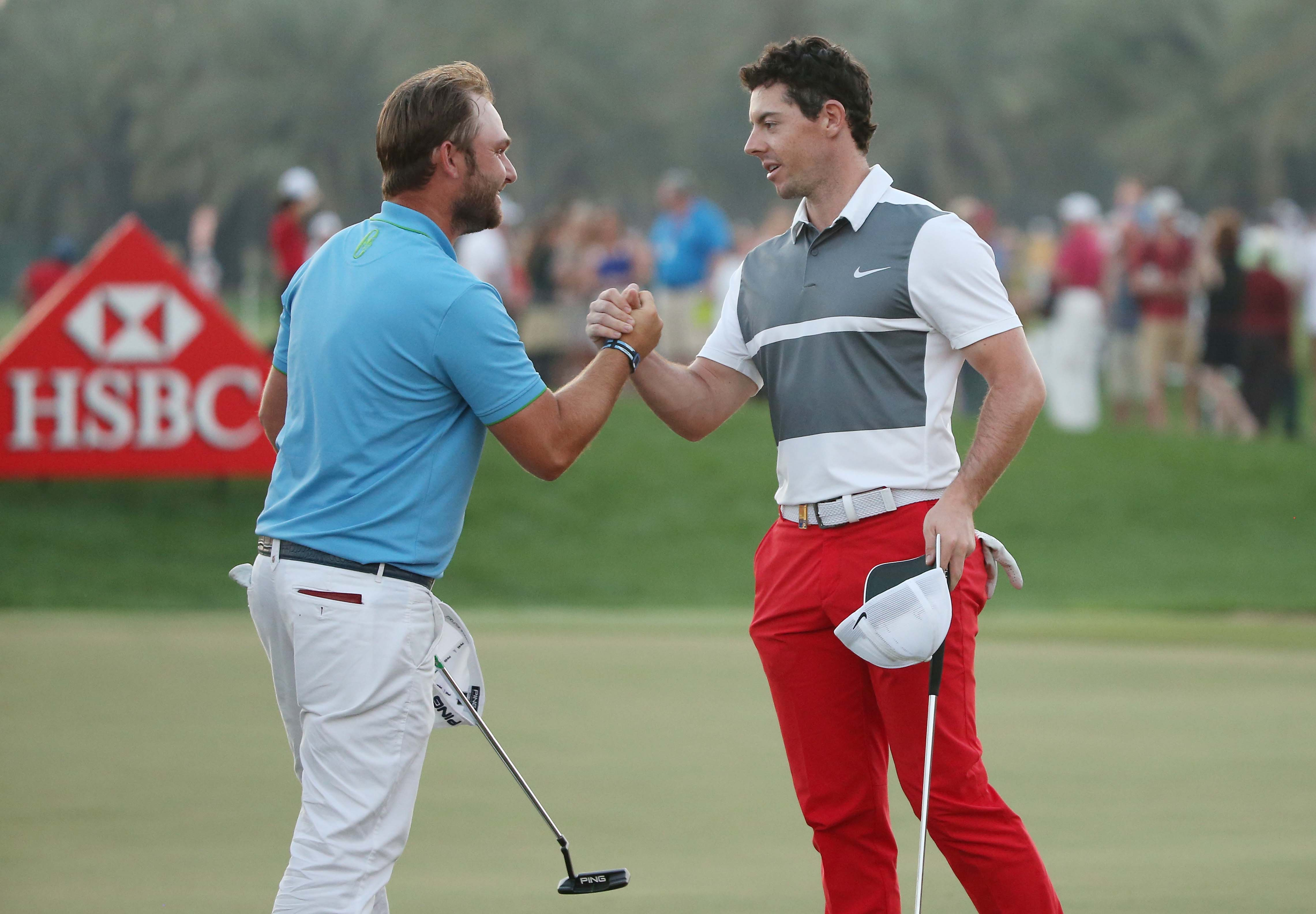 Andy Sullivan and Rory McIlroy