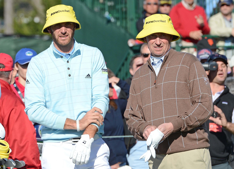 Dustin Johnson and Wayne Gretzky