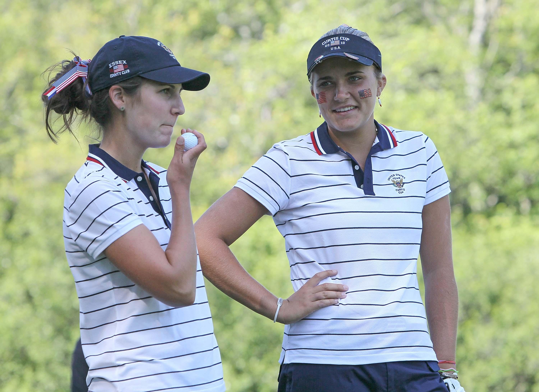 Lexi Thompson and Jennifer Johnson