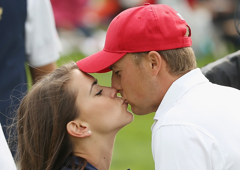 Jordan Spieth and Annie Verret