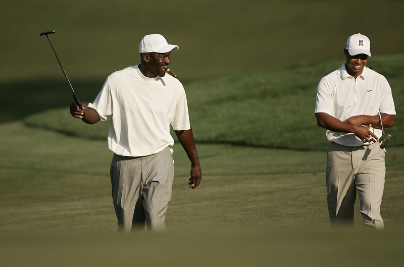 Michael Jordan and Tiger Woods