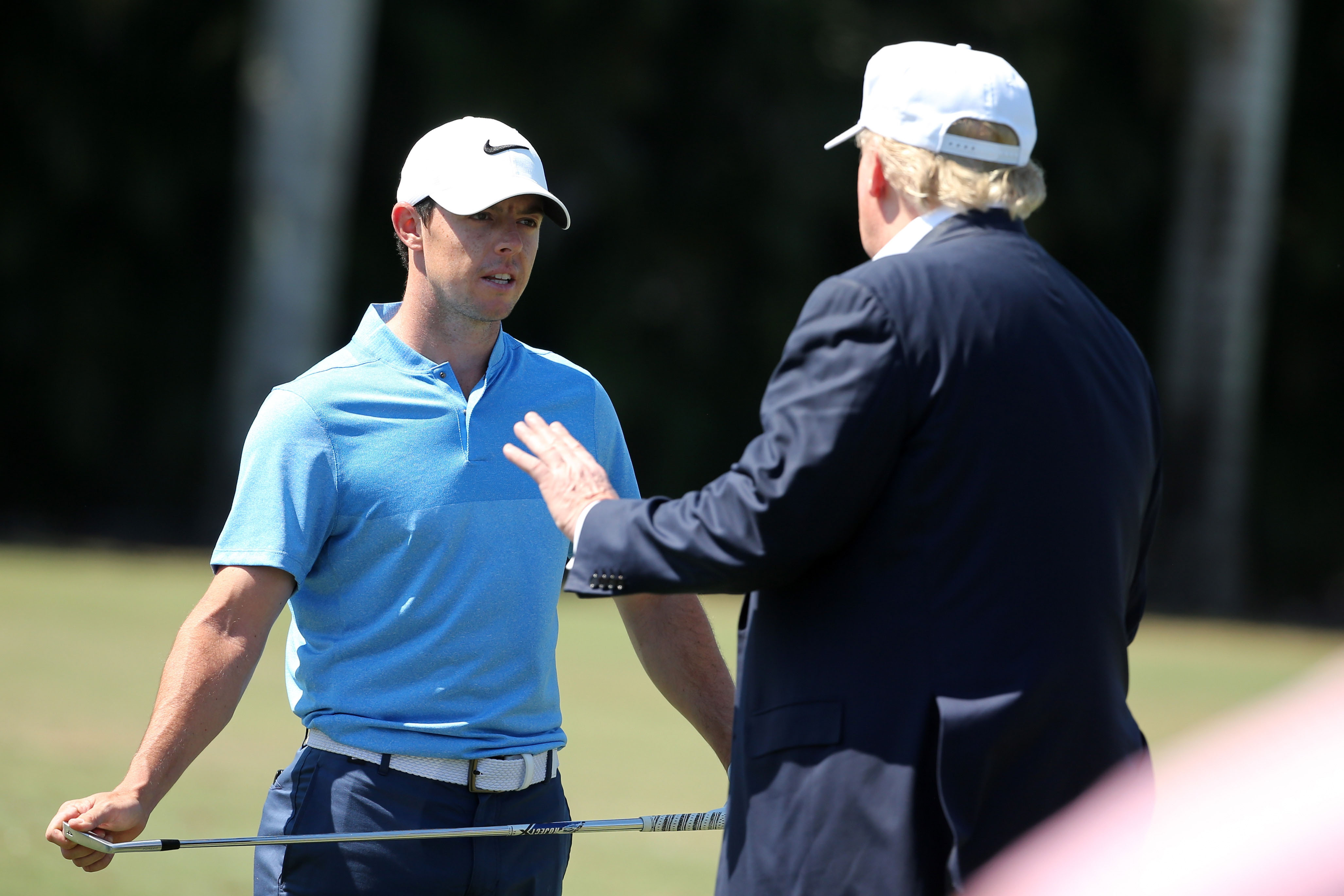 Donald Trump and Rory McIlroy