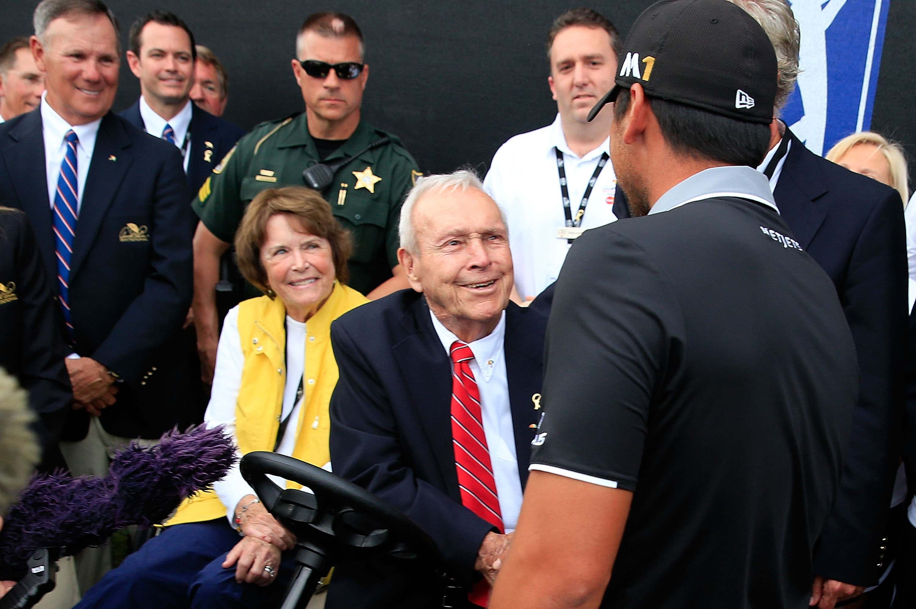 Jason Day and Arnold Palmer