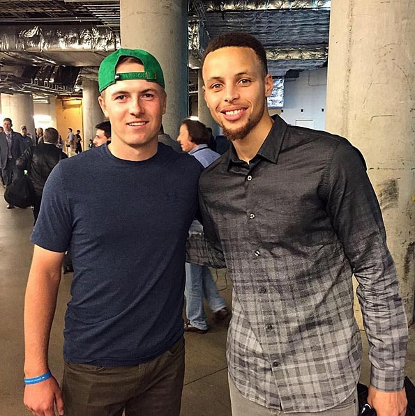 Jordan Spieth and Stephen Curry