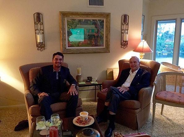 Jason Day and Arnold Palmer