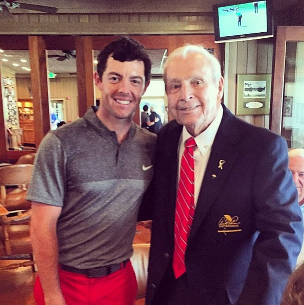 Rory McIlroy and Arnold Palmer