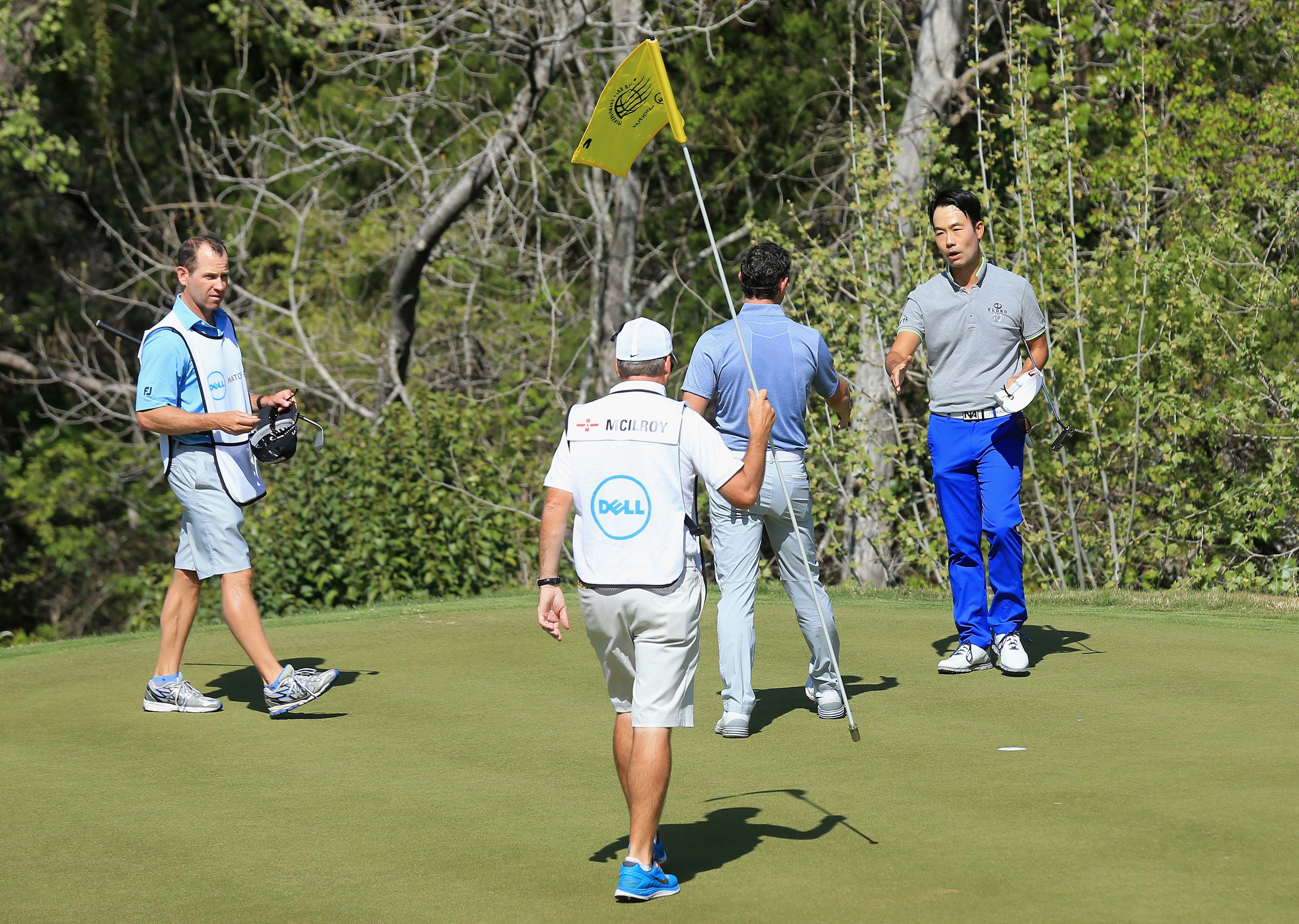 Rory McIlroy and Kevin Na