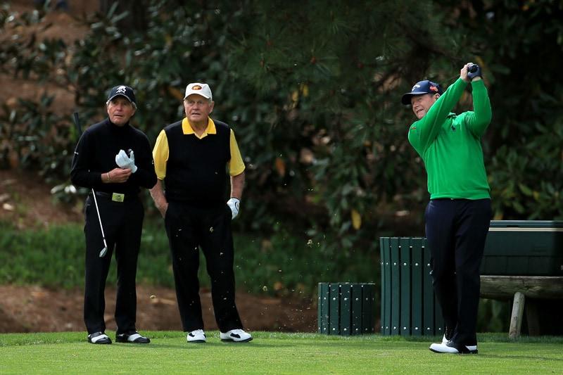Gary Player, Jack Nicklaus and Tom Watson