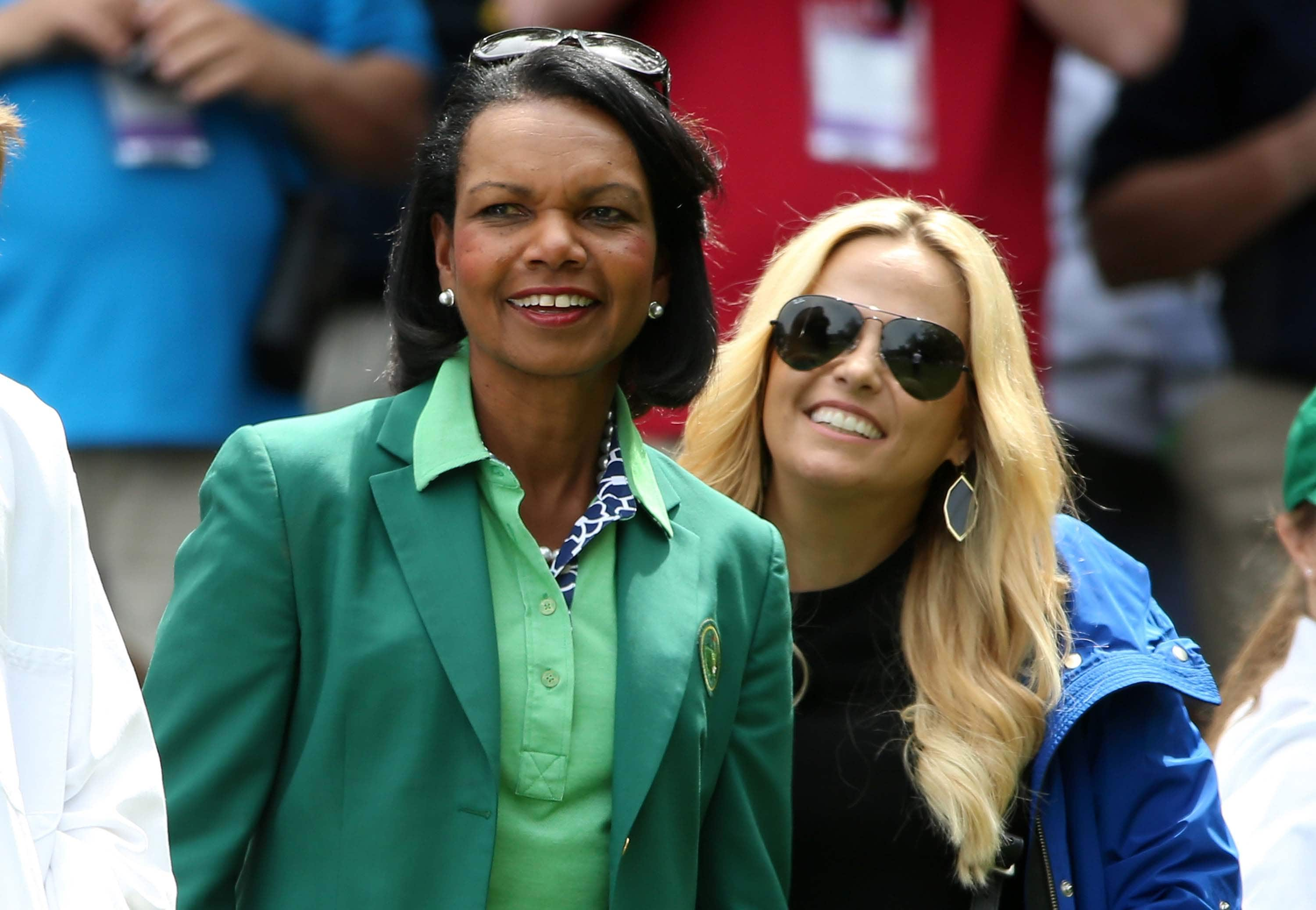 Amy Mickelson and Condoleezza Rice