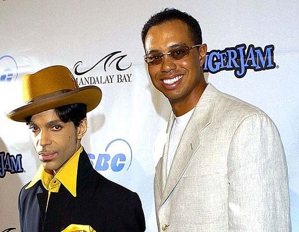 Tiger Woods and Prince