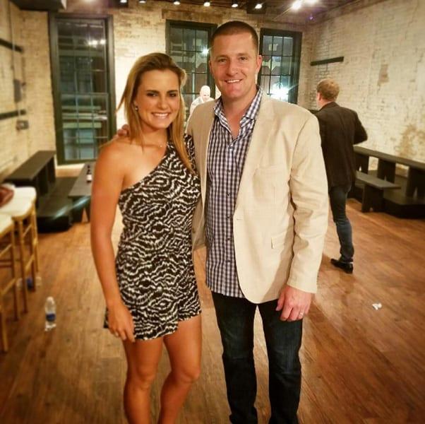 Lexi Thompson and Josh Scobee