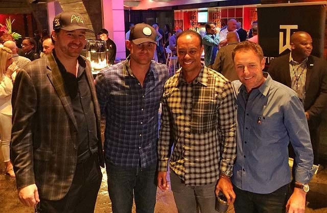 Phil Hellmuth, Andy Roddick, Tiger Woods and Chris Harrison