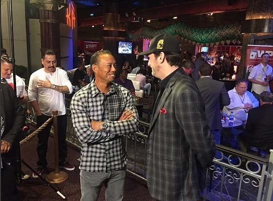 Tiger Woods and Phil Hellmuth