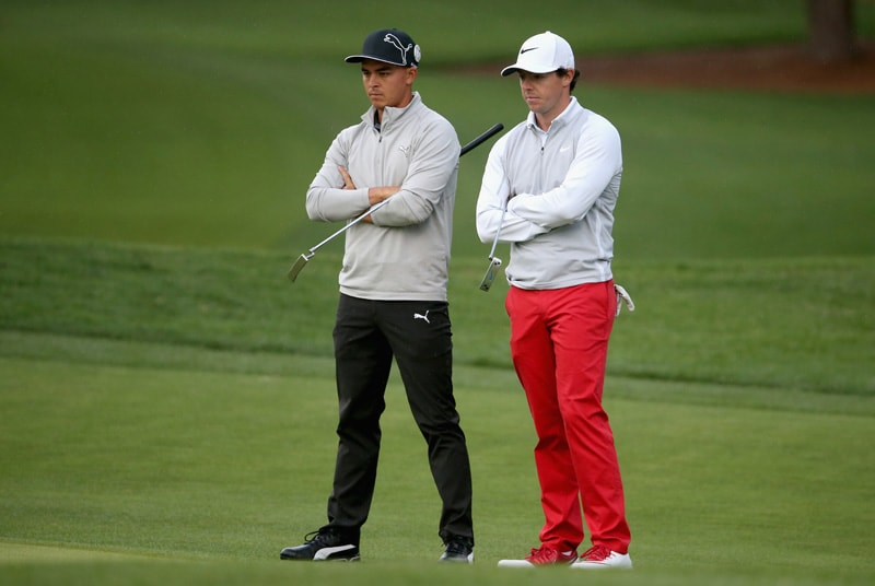 Rickie Fowler and Rory McIlroy