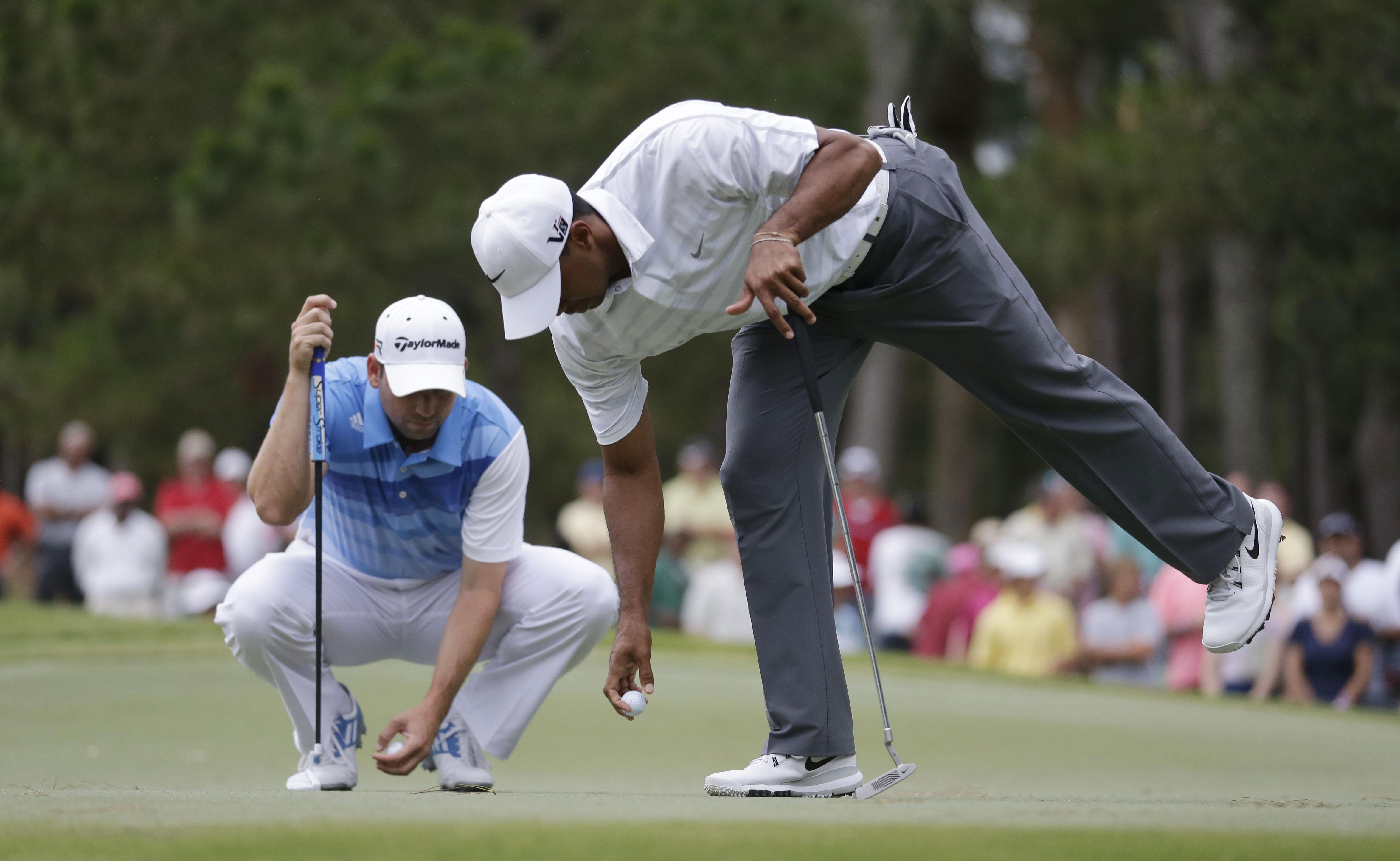7. 2013: Tiger, Sergio go at it