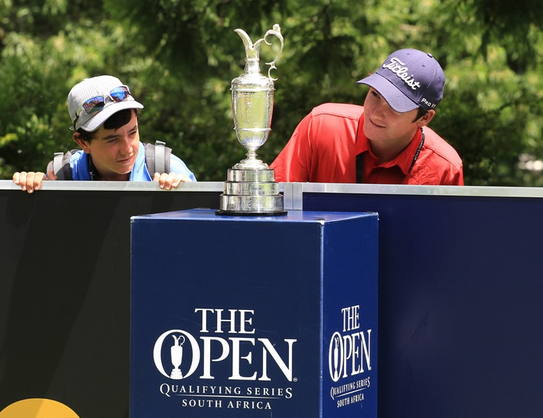 Claret jug at the Joburg Open