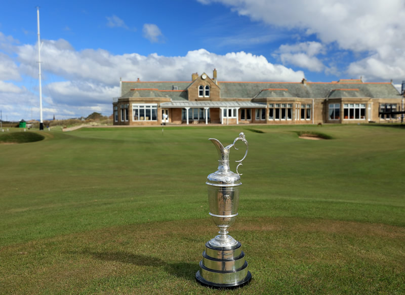 Claret jug at Royal Troon