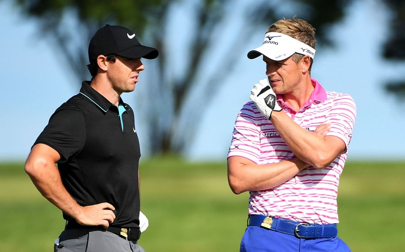 Rory McIlroy and Luke Donald