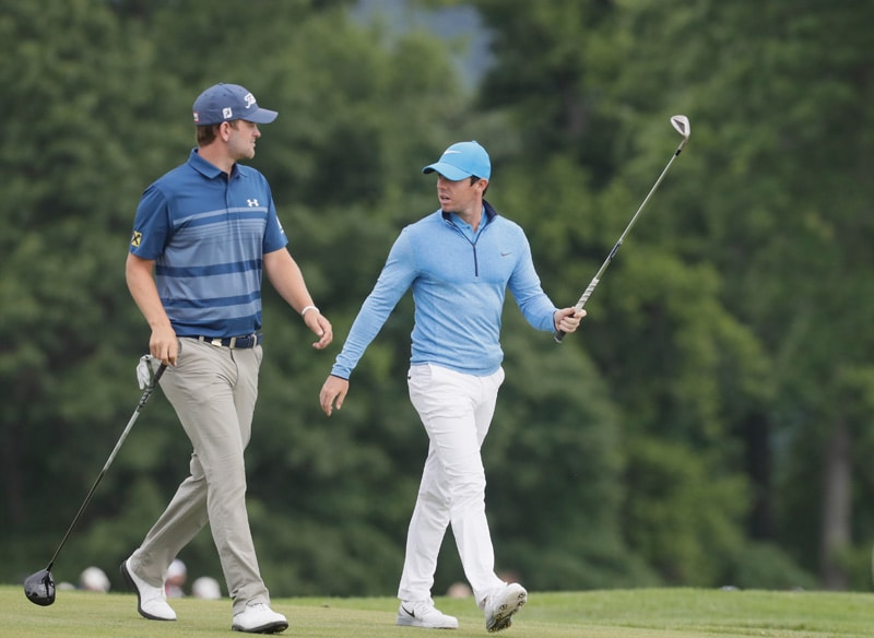 Bernd Wiesberger and Rory McIlroy