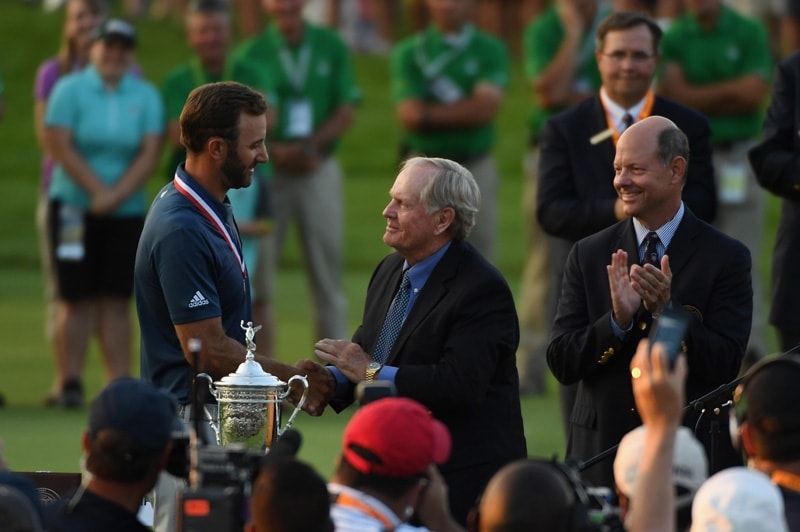 Dustin Johnson and Jack Nicklaus