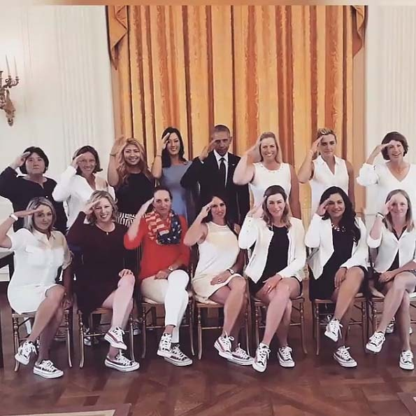 U.S. Solheim Cup team and President Obama