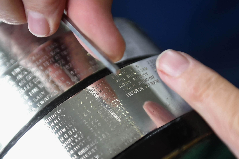 Engraving the claret jug