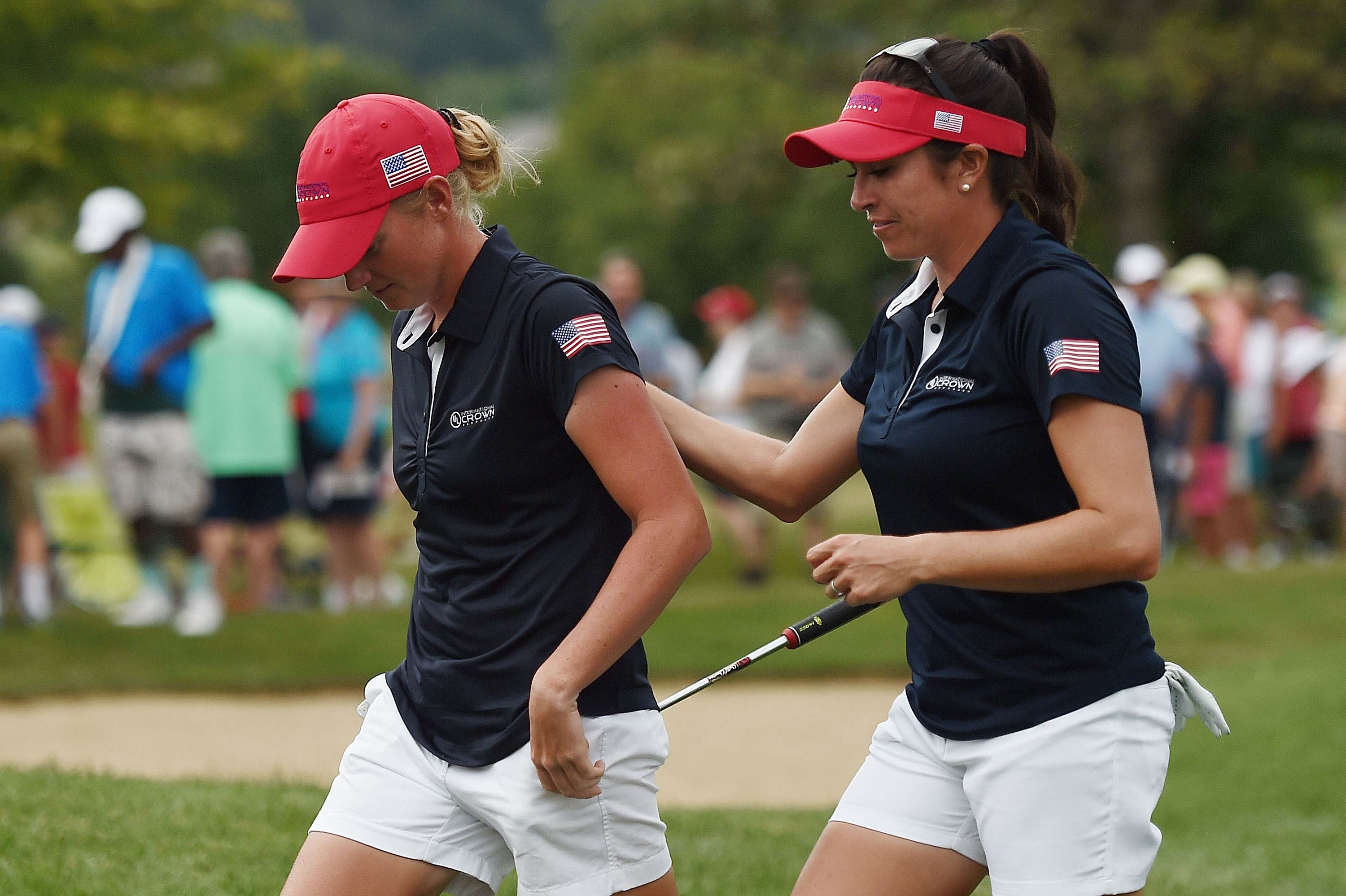 Stacy Lewis and Gerina Piller