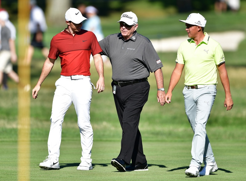 Rory McIlroy, Butch Harmon and Rickie Fowler