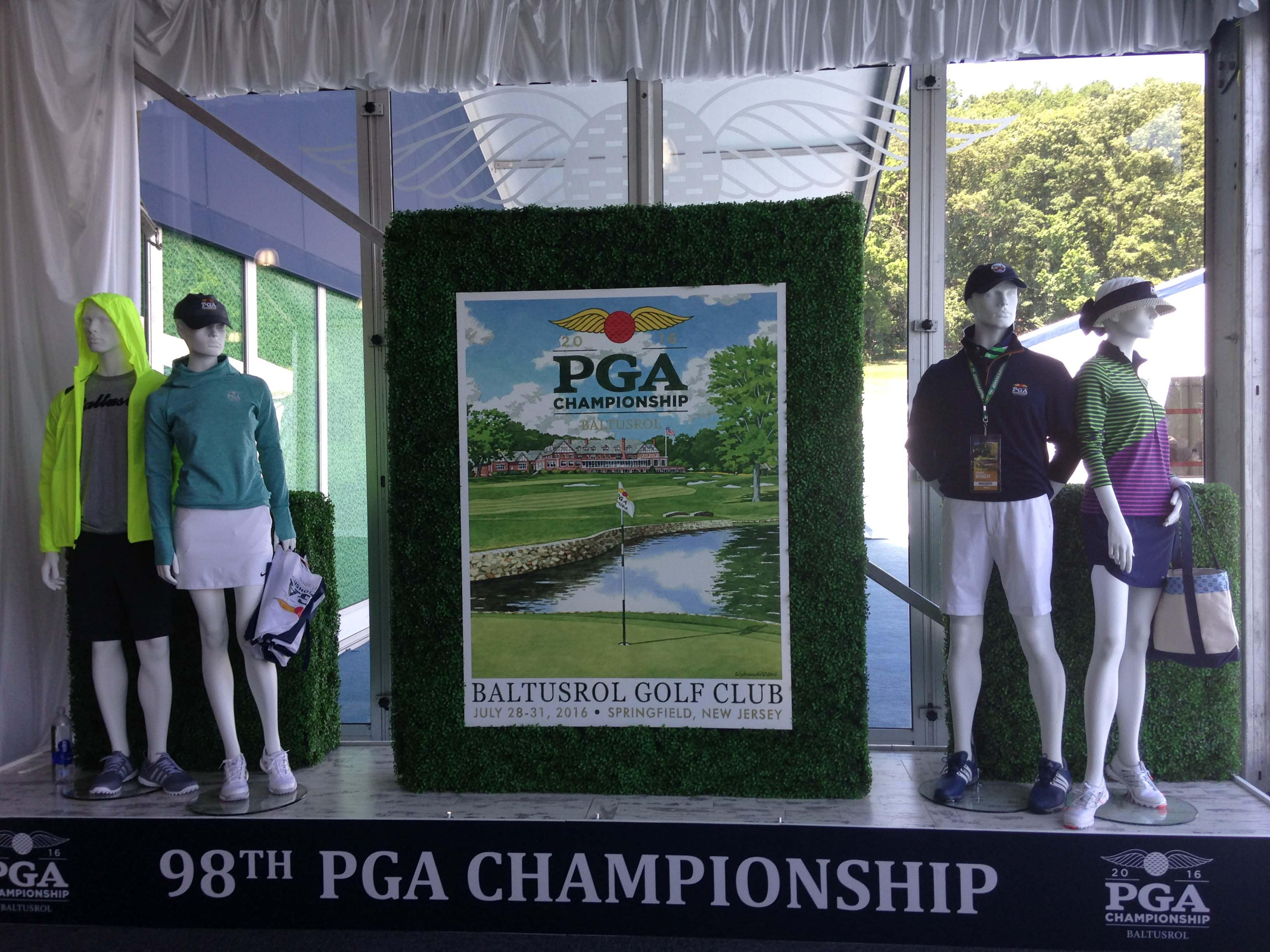 Welcome to the PGA merchandise tent
