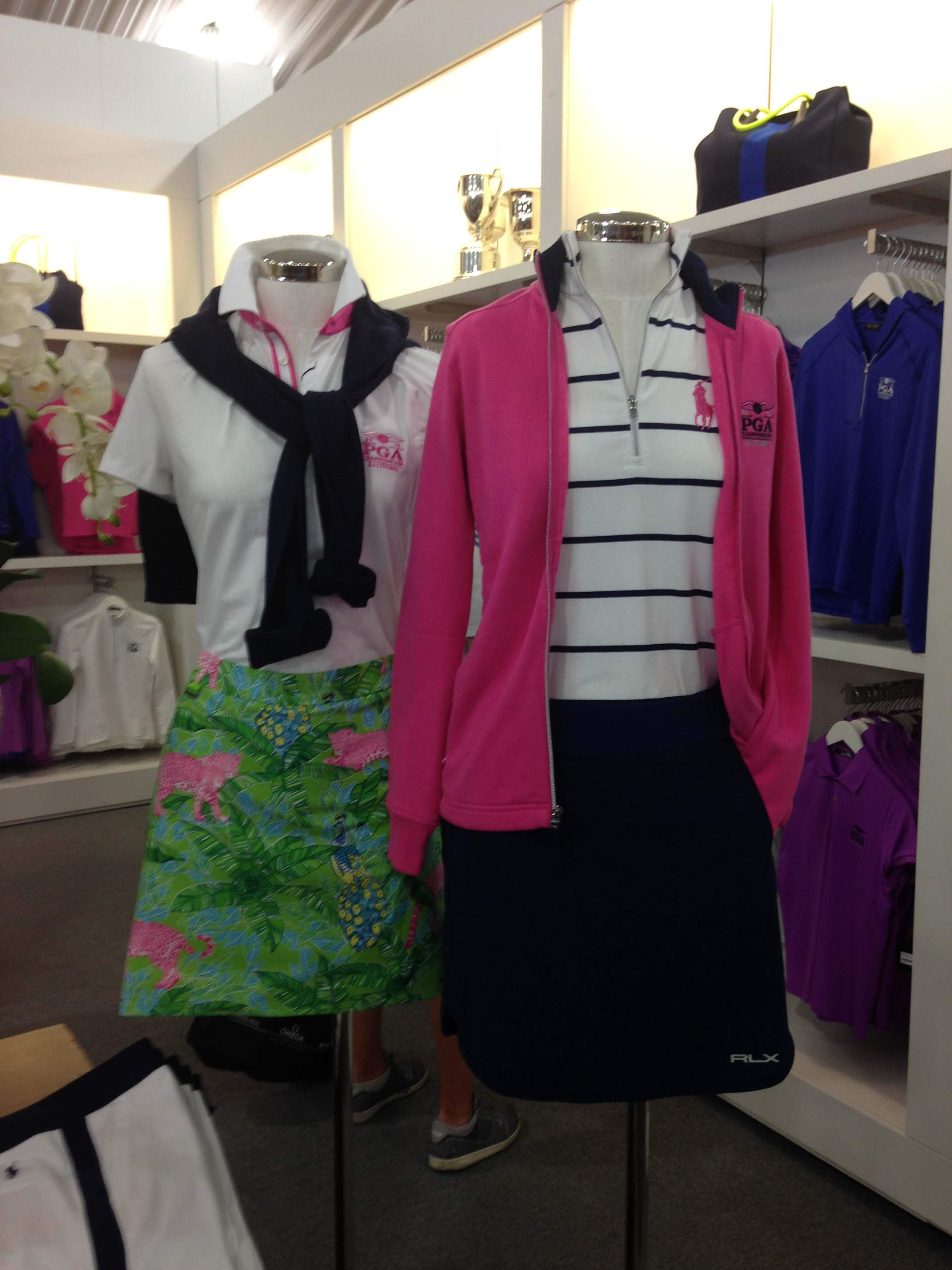 Flowery green and pink women's outfits
