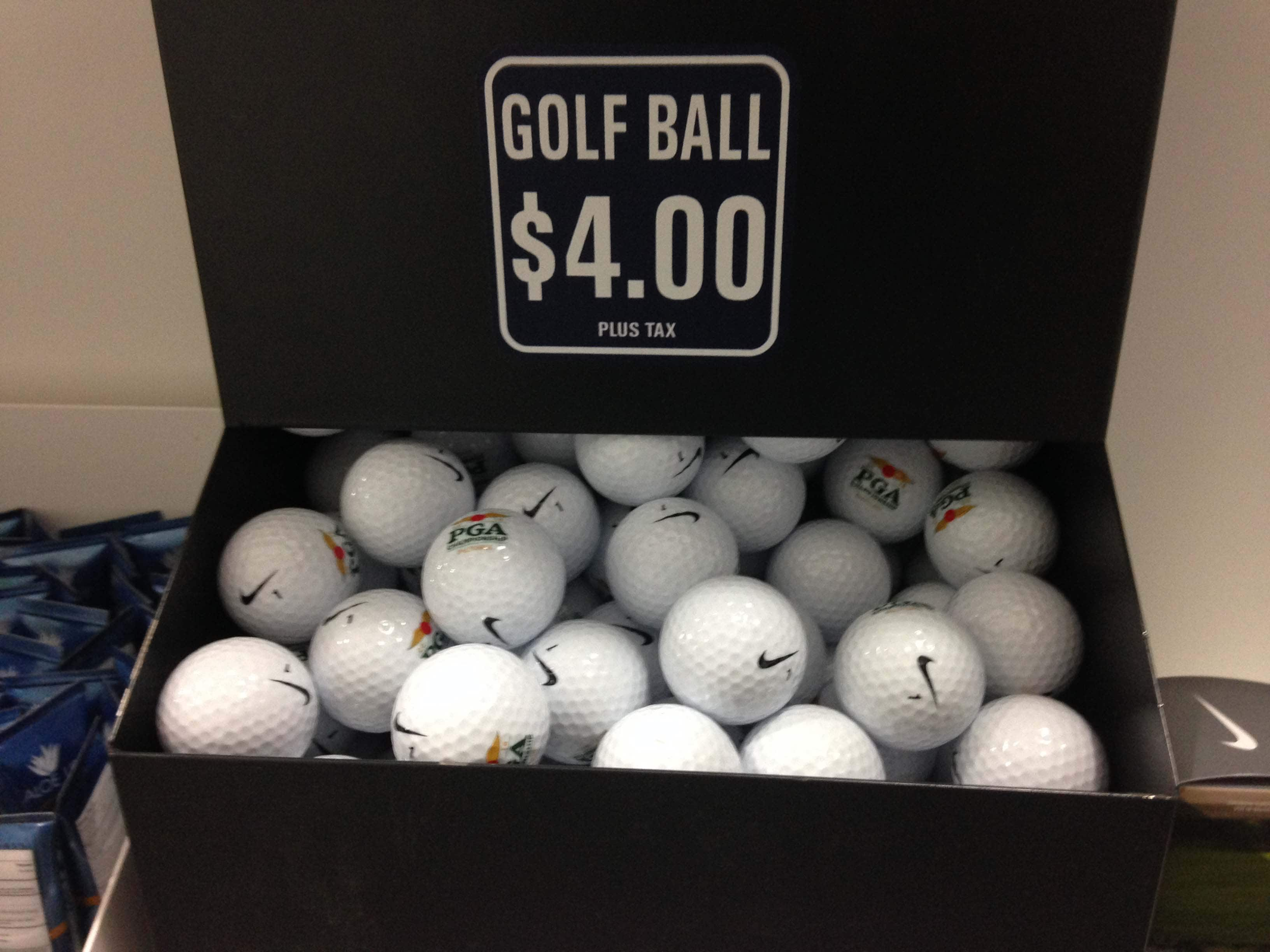 $4 golf balls