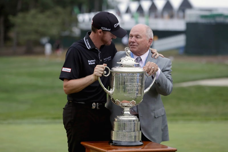 Jimmy Walker and Butch Harmon