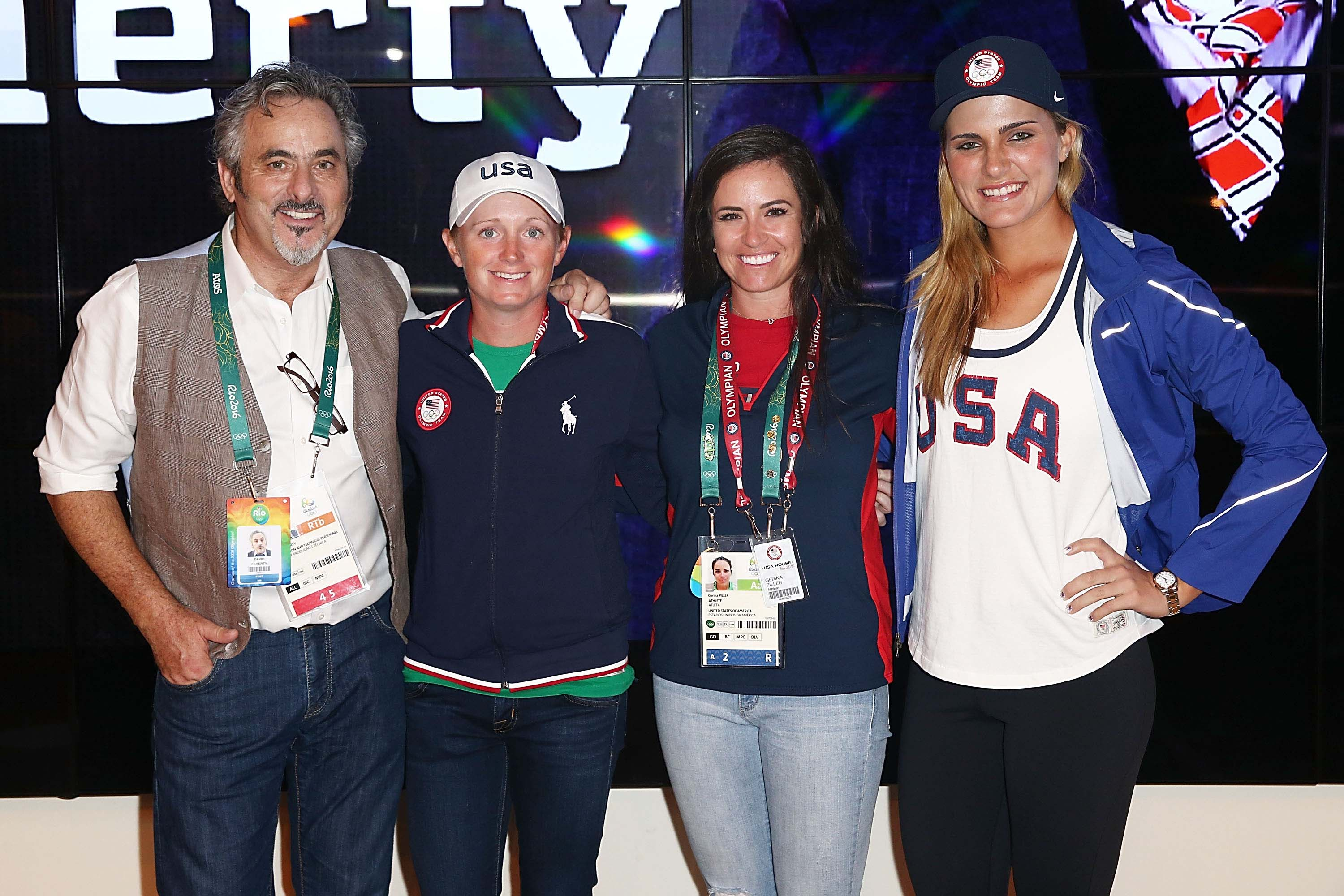 David Feherty, Stacy Lewis, Gerina Piller and Lexi Thompson